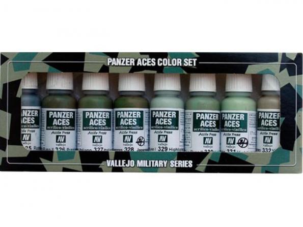 Vallejo Set Panzer Aces 70127 Set n°4 Uniformes 8 x 17ml