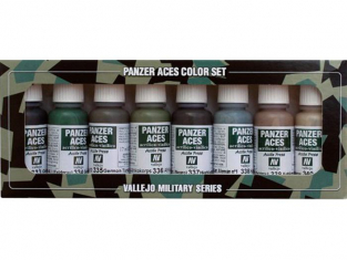 Vallejo Set Panzer Aces 70128 Set n°5 Uniformes 8 x 17ml