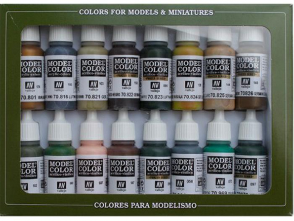 Vallejo Set Model Color 70114 Camouflage Allemand 16 x 17ml