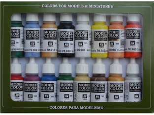 Vallejo Set Model Color 70140 Couleurs de base U.S.A. 16 x 17ml