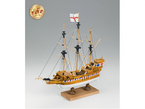 Amati bateau bois 600/02 Mon premier bateau bois ELIZABETHAN GALLEON 1/135