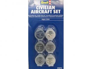 Revell set de peintures acrylique 39072 set pour avions civil