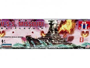 Lindberg maquette bateau 70869 USS Missouri 1/900