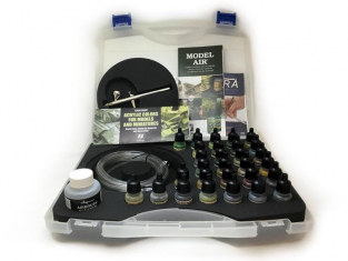 Vallejo Malette Model Air 71173 Couleurs Camouflage 29 x 17ml + Aerographe Ultra Harder & Steenbeck