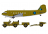Airfix maquette avion 09008 Douglas dakota avec jeep Willys 1/72