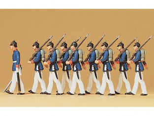 Preiser Figurine 12186 Regiment prussien a pied 1910 HO
