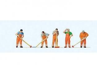 Preiser Figurine 10713 nettoyage des rues HO