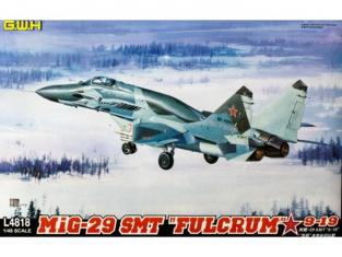 Great Wal Hobby maquette avion L4818 MiG-29 SMT Fullcrum 9-19 1/48