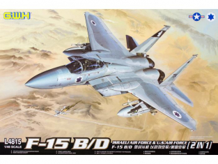 Great Wal Hobby maquette avion L4815 F-15 B/D Israeli Air force & U.S. Air Force 1/48