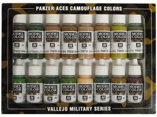 Vallejo Set Panzer Aces 70179 Set camoufalge 16 x 17ml