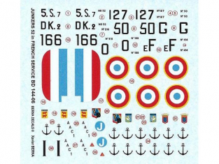 Decalques Berna decals BD144-06 Junkers 52 Force française 1/144