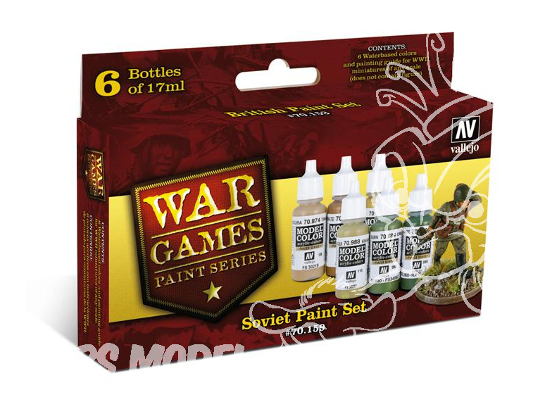 Vallejo Set Model Color Wargames 70159 Sovietiques 6 x 17ml