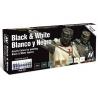 Vallejo Set Model Color 70151 Noir et Blanc - Black & White 8 x 17ml