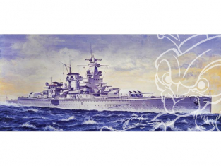 Italeri maquette bateau 508 Admiral Scheer 1/720