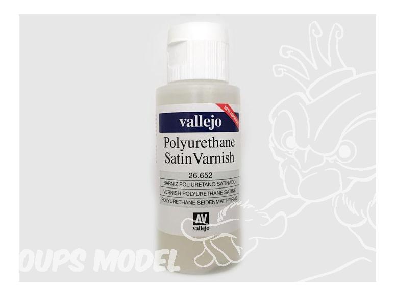 Vallejo 26652 Vernis Polyurethane acrylique satiné 60ml