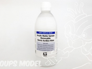 Vallejo 28525 Vernis acrylique mat retirable a sechage rapide 500ml