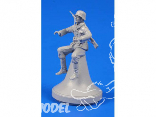 CMK Personnage resine F48299 MOTOCYCLISTE ALLEMAND WWII pour kit Tamiya 1/48