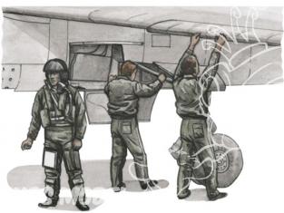 CMK kit d'amelioration 72305 PILOTE ET MÉCANICIENS Pour MIRAGE F.1C 1/72