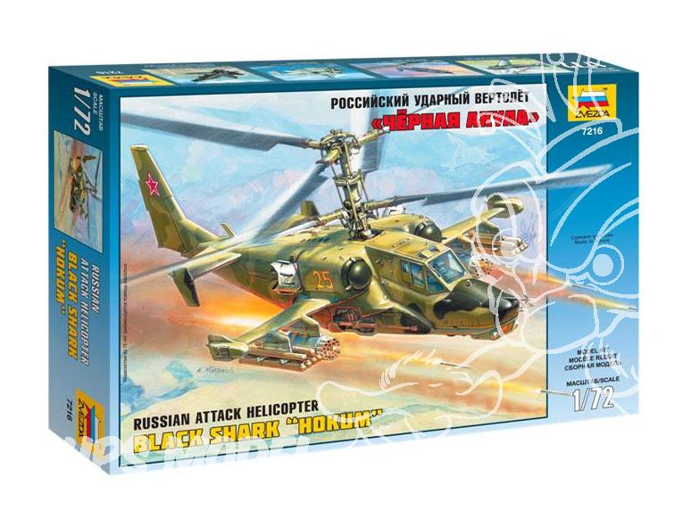 Zvezda maquette avion 7216 Kamov KA-50 1/72