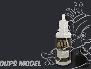 Vallejo Peinture Acrylique Game Color Wash 73201 Lavis Noir 17ml