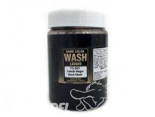 Vallejo Peinture Acrylique Game Color Wash 73301 Lavis Immersion Noir 200ml