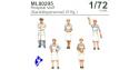 CMK figurine ML80295 Personnel Hospitalier Allemand 1/72