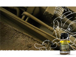 Vallejo Splash Mud Acrylique 73801 Eclaboussure de boue Europeenne 40ml