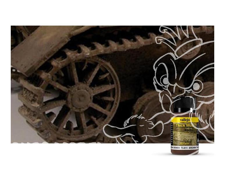 Vallejo Thick Mud Acrylique 73811 Boue Epaisse Marron 40ml