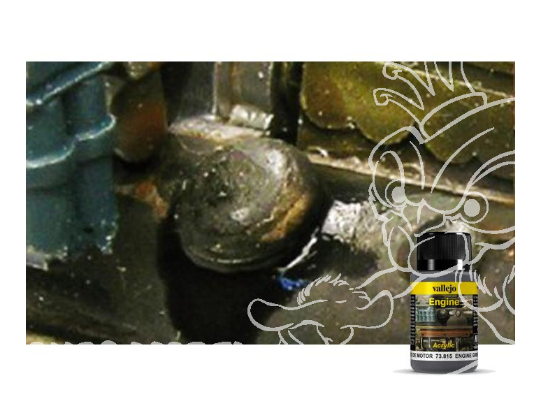 Vallejo Engine Acrylique 73815 Saleté Moteur 40ml