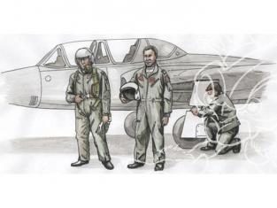 CMK kit personnages 72306 Deux PILOTES ET Un MÉCANICIEN Pour FOUGA MAGISTER 1/72