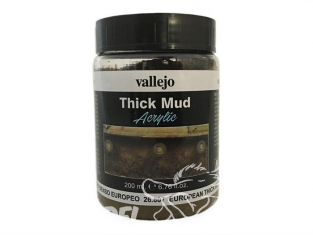Vallejo Thick Mud Acrylique 26807 Boue Epaisse Europeenne 200ml