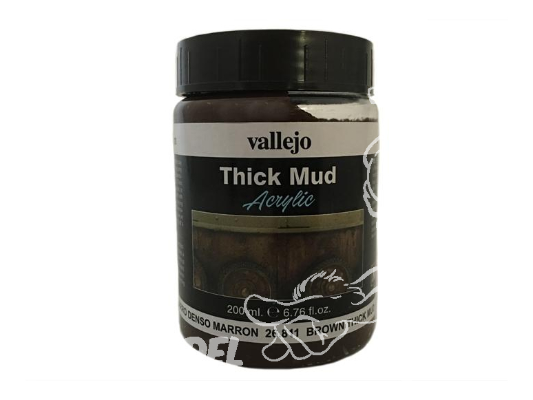 Vallejo Thick Mud Acrylique 26811 Boue Epaisse Marron 200ml