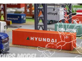 Faller accessoires 180849 40' Hi-Cube Container HYUNDAI ho 1/87