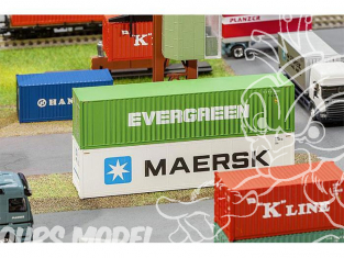Faller accessoires 180846 40' Hi-Cube Container EVERGREEN ho 1/87
