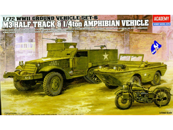 Academy maquette militaire 13408 WWII Ground Vehicule Set-6 1/72