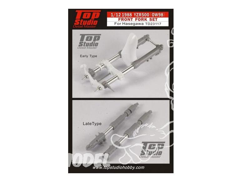 Top Studio amélioration MD23117 Tubes de fourche pour YZR500 de 1988 OW98 1/12