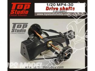 Top Studio amélioration TD23162 Arbres de transmission pour MP4-30 Ebbro 1/20
