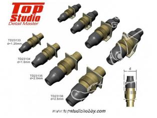 Top Studio amélioration TD23133 Connecteurs electrique type laiton 1,25mm 1/20 1/24