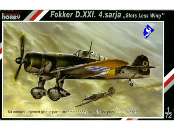 Special Hobby maquette avion 72113 Fokker D.XXI.4.Sarja 1/72
