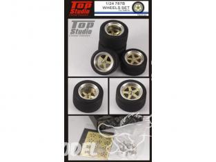 Top Studio amélioration TD23123 Set de roues pour Mazda 787B de Tamiya 1/24