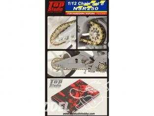 Top Studio amélioration TD23091 Kit chaine NSR 250 Hasegawa 1/12