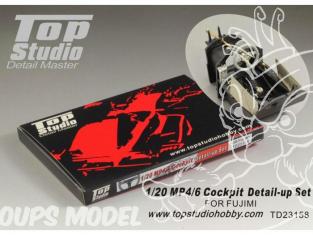 Top Studio amélioration TD23158 Kit Detail cockpit pour MP4/6 Fujimi 1/20