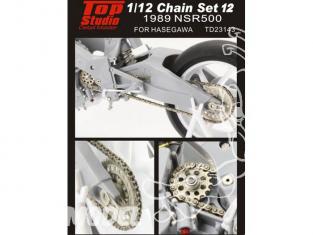 Top Studio amélioration TD23143 Kit chaine NSR500 1989 Hasegawa 1/12