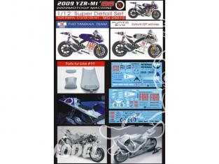 Top Studio amélioration MD29010 Super Detail Set pour la YZR-M1 99 de 2009 kit Tamiya 1/12