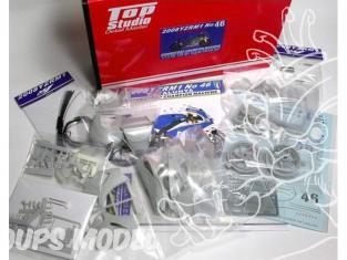 Top Studio amélioration MD29007 Super Detail Set pour la YZR-M1 46 Catalunta de 2008 kit Tamiya 1/12