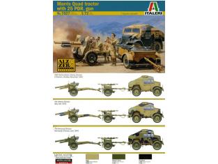 italeri maquette militaire 7027 morris quad avec canon 1/72