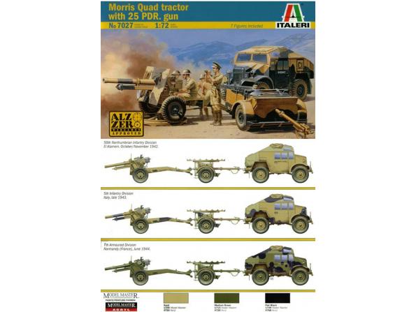 italeri maquette militaire 7027 morris quad 1/72