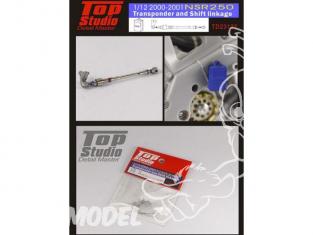 Top Studio amélioration TD23122 Transpondeur et tringlerie de changement de vitesse NSR250 200 2001 1/12