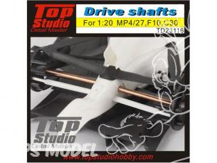 Top Studio amélioration TD23116 Arbres de transmission pour MP4/27 F10 C30 1/20