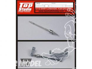 Top Studio amélioration TD23039 Tringlerie de changement de vitesse pour GP4-GP9 1/12